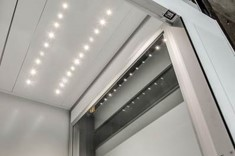 Ceiling with LED spotlights
