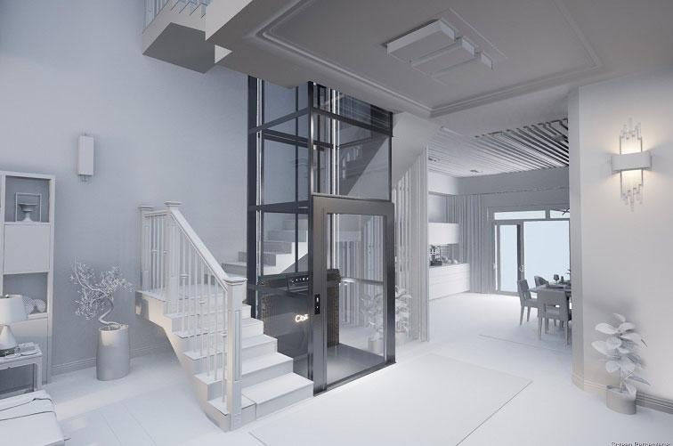 ลิฟท์บ้านขนาดเล็ก ระบบความปลอดภัยสูง มาตรฐาน EU Safety Standard