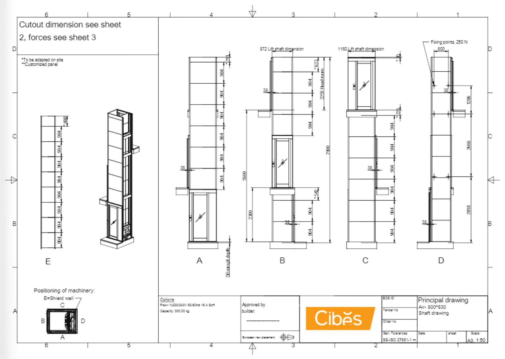 Cibes lift Size S1 800x830