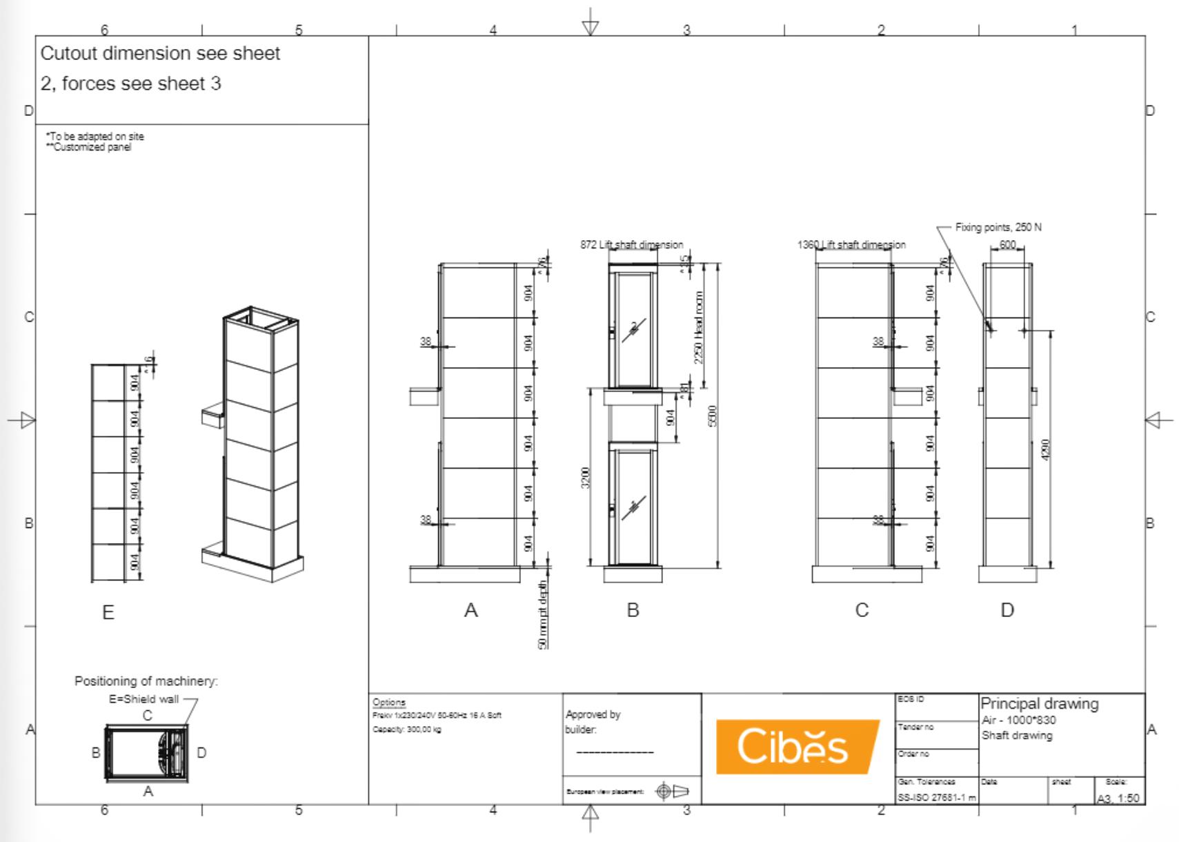 Cibes lift Size S2 1000x830