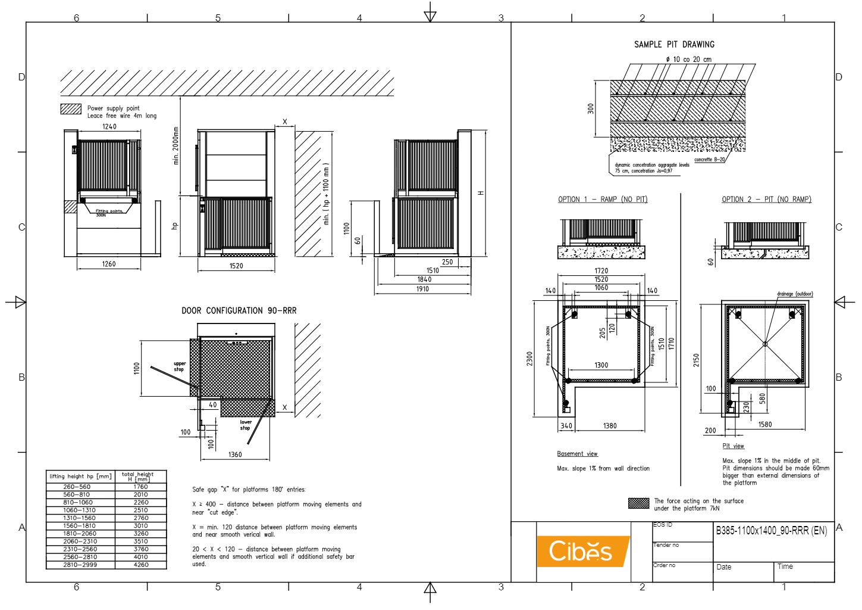 Cibes lift B385 1100×1400 90 RRR
